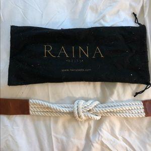 Raina belt. Worn once. Nautical knot belt.